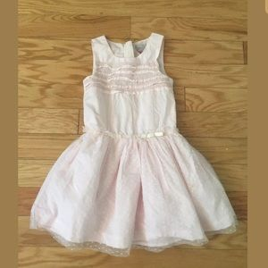 Girls TAHARI Solid Pink Formal Sleeveless Dress